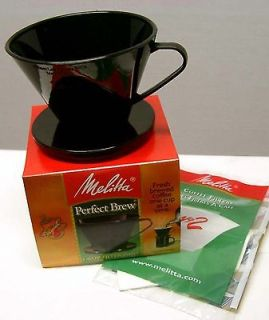 Melitta PERFECT BREW Cone Filter Cup Coffee Maker BLACK FREE Shipping