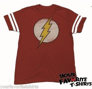 The Flash Symbol Sheldon Cooper Jersey DC Comics Licensed Adult T