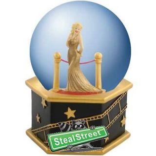 85 mm Oscars Academy Award Crystal Ball with Gold Dress Marilyn Statue