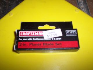 INCH PLANER BLADE SET 9 11731 FOR 9  11584 CORDLESS PLANER