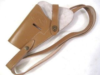 Leather Shoulder Holster Colt M1911 45acp Pistol   Left Hand   Repro
