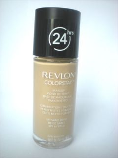 REVLON COLORSTAY FOUNDATION 180 Sand Beige COMBINATION/OILY SKIN TYPES