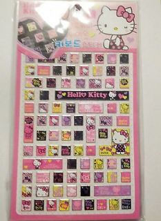 Sanrio Hello Kitty BLACK Keyboard Sticker Laptop PC