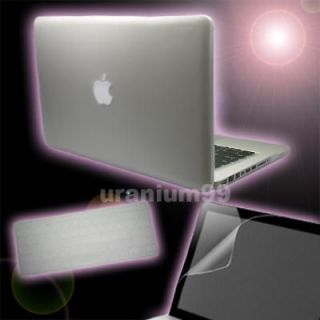 MacBook PRO Matte Hard Case CLEAR + Keyboard Cover + Screen Protector