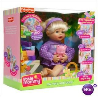 NIB Fisher Price Little Mommy My Very Real Interactive Baby Doll