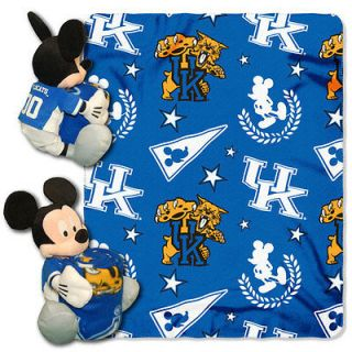 Disney Kentucky Wildcats Mickey Mouse Plush & Blanket Set 40x50