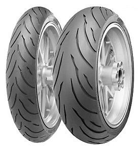 NEW CONTINENTAL CONTI MOTION MOTORCYCLE TIRE SET 120/70 17 & 190/50 17