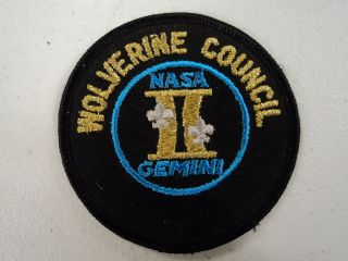 Rare BSA Wolverine Council NASA Gemini II Patch, 3 1/2