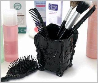 Makeup Brush Holder on Makeup Brush Holder On Comb Brush Holder Antique Make Up Tools Vintage