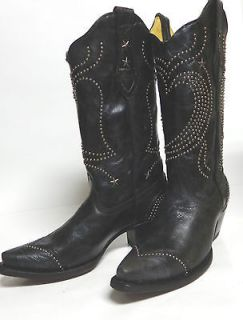 Corral Ladies Western Boots R1031 Black Heart with Studs and Stars