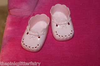 Girl Bitty Baby DOLL pink plastic vintage style Birthday crib shoes