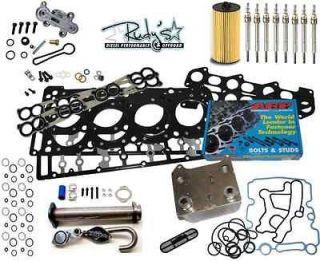 Diesel Master Kit Head Gasket EGR Delete Dorman Oil Cooler ARP 03 07