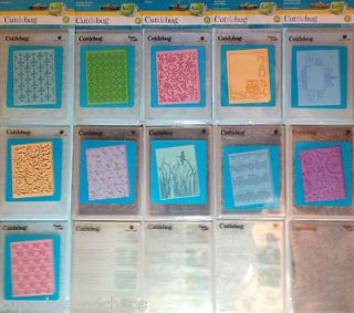 CUTTLEBUG by PROVOCRAFT EMBOSSING FOLDERS A2 ~ U PICK ~