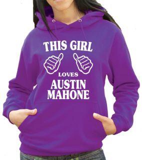 This Girl Loves Austin Mahone Hoody   Mahomies Hoodie or Hooded Top