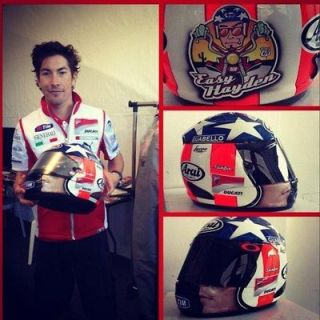 ARAI CORSAIR V NICKY HAYDEN MOTO GP LIMITED EDITION HELMET   AKRAPOVIC