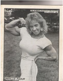 WOMENS PHYSIQUE PUBLICATION female bodybuilder magazine Phyliss Padur