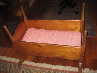 Antique Pine Baby/Doll Cradle Early 1800s