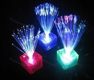 Cube Color Changing Optical Fiber LED Night Light High Quality
