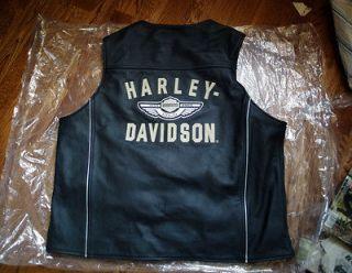 harley Davidson 100th anniversary Leather vest Men XL
