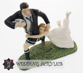 Rugby Love Match Wedding Cake Topper BNIB