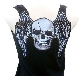 Rockabilly Punk Rock Baby SKULL ANGEL Biker Club MC RockStar TANK TOP