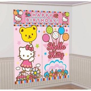 New HELLO KITTY ~GIANT WALL DECORATON KIT~ Birthday Party Supplies