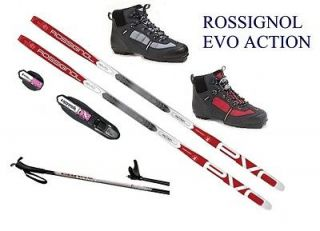 EVO ACTION cross country NNN SKIS/BINDINGS/ BOOTS/POLES   166cm