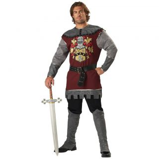 Adult Renaissance Noble Knight Halloween Costume Fancy Dress Up Party