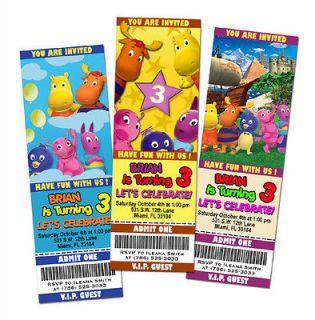 THE BACKYARDIGANS BIRTHDAY PARTY INVITATION TICKET 1ST CUSTOM INVITE