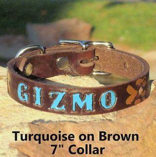Tan 1 Custom Handmade Real Genuine Leather Dog Collar, Personalized