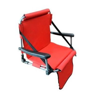 Stadium seat folding portable padded bleacher chair new
