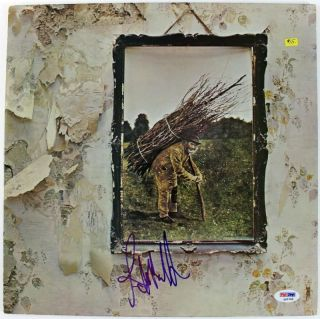 JOHN PAUL JONES LED ZEPPELIN SIGNED ALBUM COVER W/ VINYL PSA/DNA #