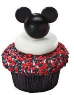 Mickey Mouse Cupcake Topper Picks   Set of 12