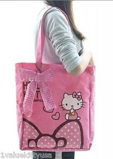 Hello Kitty Tote Shoulder Bag School Bag A Great Gift **US SELLER**