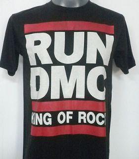 RUN DMC RETRO RAP ROCK T SHIRT BLACK SIZE Medium