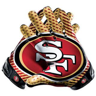 San Francisco 49ers Nike Vapor Jet 2.0 NFL Football Gloves Super Bowl