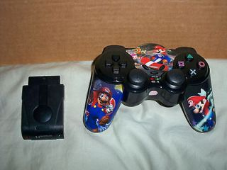 PS2 WIRELESS CONTROLLER CUSTOM SUPER MARIO BROS NES SONY PLAYSTATION