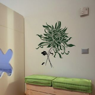 LARGE DANDELION HEAD FLOWER WALL ART STICKER DECAL kids vinyl stencil