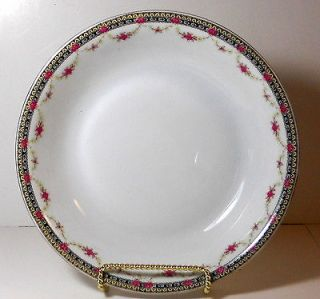 Newly listed Victoria China Czechoslovakia Soup Bowl Floral Garland