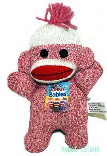 NEW Schylling Sock Monkey Baby PINK