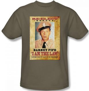 Ladies Youth SIZES Andy Griffith Barney Fife Retro T shirt top tee