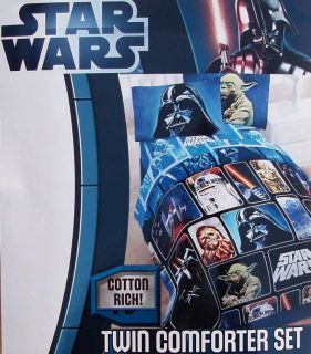 STAR WARS DARTH VADER FULL COMFORTER SHEETS SHAMS BEDSKIRT 8PC BEDDING
