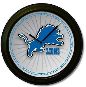 nfl detroit lions wall clock  15 99