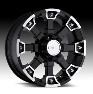 18 inch V tec Brutal black wheels CHEVY DODGE GMC 8 LUG