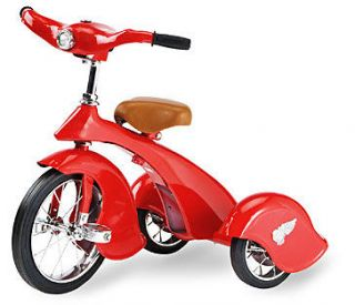 Morgan Cycle Red Bird Retro Tricycle With Working Light