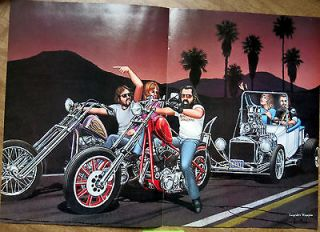 David Mann Centerfold Poster Easy Rider September 1986 Biker Art
