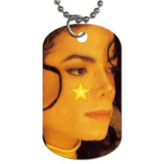 Michael Jackson Star Collectible Dog Tag Necklace 1