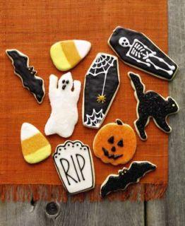 Martha Stewart Halloween Cookie Cutters bat,cat,ghost,coffin,headstone