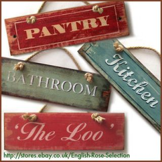 PLAQUE* DOOR SIGN New Retro Home Accessory Hanger Shabby Decoration