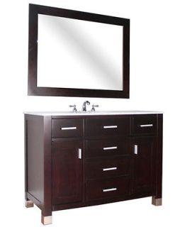 48Espresso Bathroom Vanity + FREE MIRROR+FREE FAUCET+